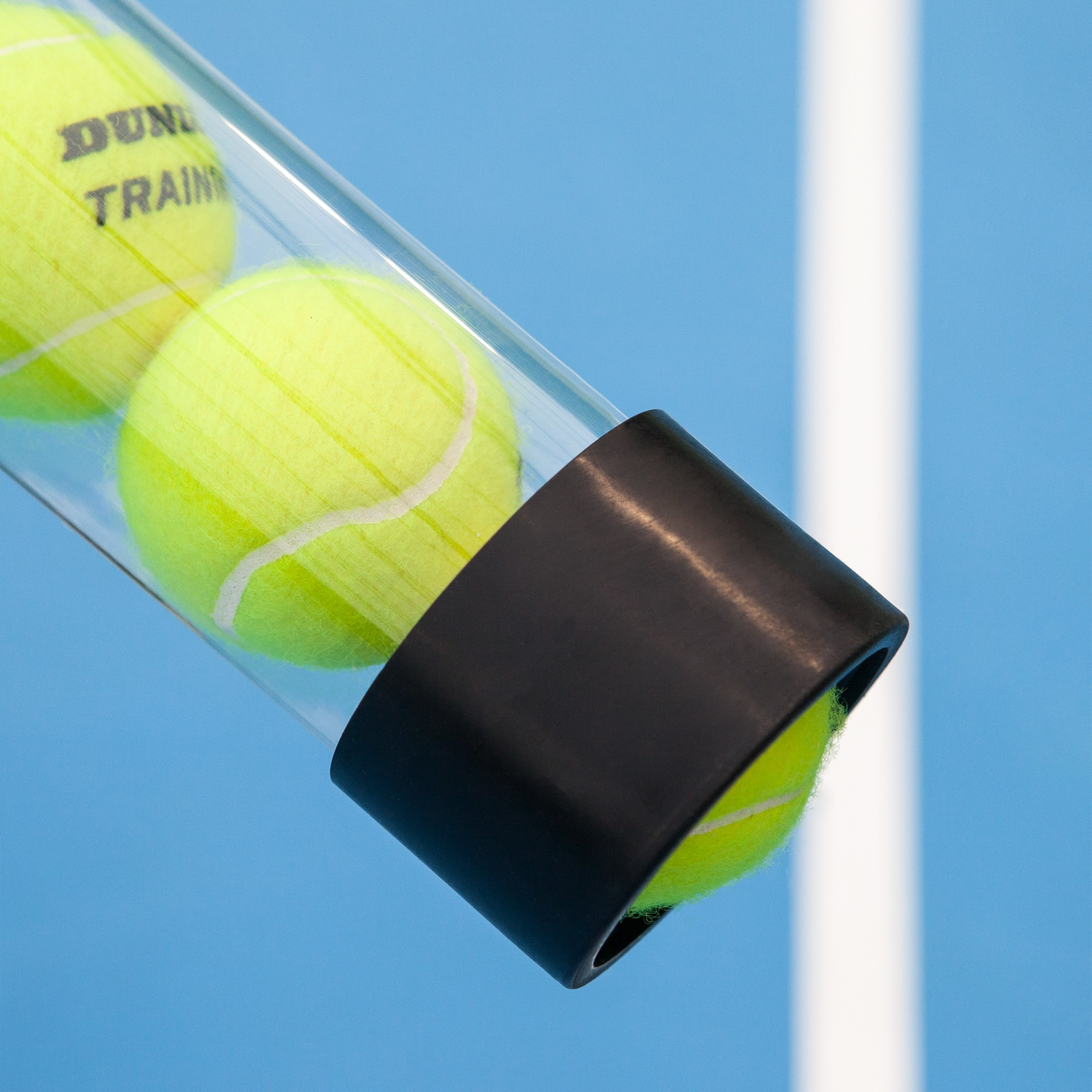 Tennis Ball Collector Tube Rubber Base